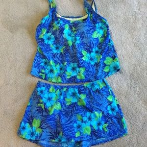 Lands End 2 piece bathing suit